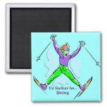 Esquiador del estilo libre iman