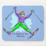 Esquiador del estilo libre tapete de ratón