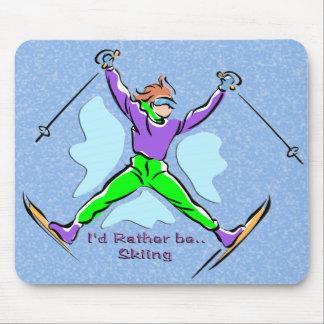 Esquiador del estilo libre alfombrillas de raton