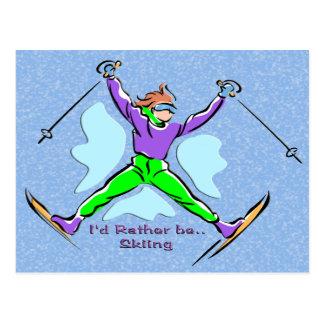 Esquiador del estilo libre tarjeta postal