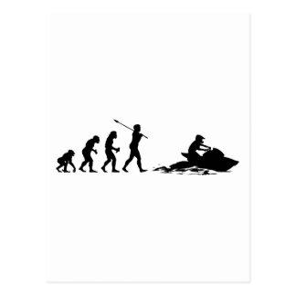 Esquiador del jet tarjeta postal
