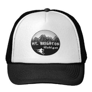 Esquiador del Mt. Brighton Michigan Gorras