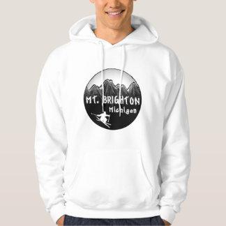 Esquiador del Mt. Brighton Michigan Sudadera