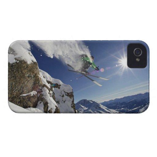 Esquiador en aire Case-Mate iPhone 4 fundas