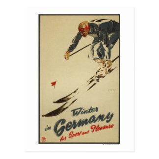 Esquiador en declive - promo del deporte y del postales