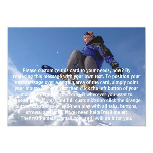 """Esquiador extremo invitación 5"""" x 7"""""""