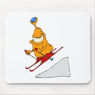 Esquiador marciano alfombrillas de raton