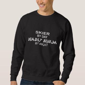 Esquiador Ninja mortal por noche Sudadera