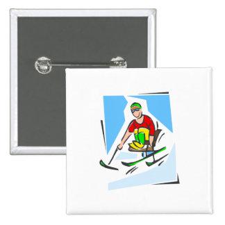 Esquiador Pin Cuadrado