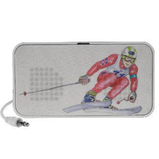 Esquiador que realiza el salto 2 notebook altavoces
