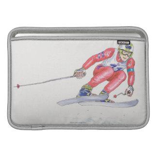 Esquiador que realiza el salto 2 fundas MacBook