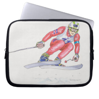 Esquiador que realiza el salto 2 funda portátil