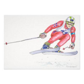 Esquiador que realiza el salto 2 comunicados personales