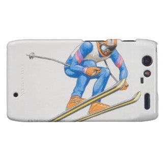 Esquiador que realiza salto droid RAZR funda