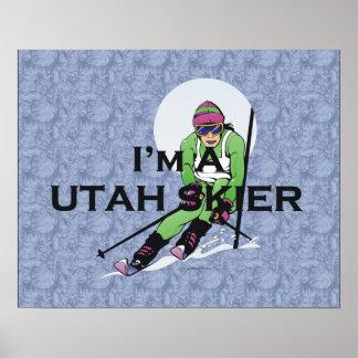 Esquiador SUPERIOR de Utah Posters