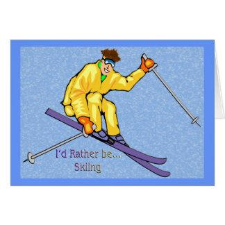 Esquiador Tarjeta De Felicitación