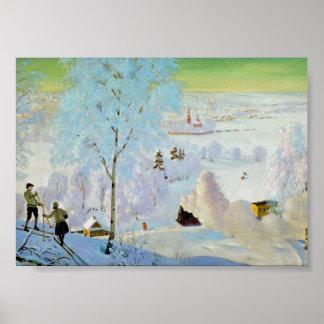 Esquiadores 1919 póster