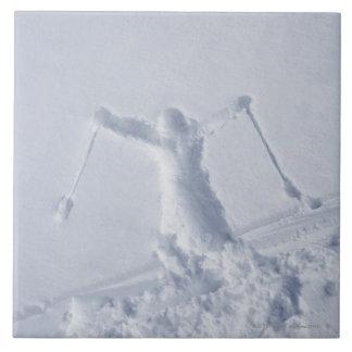 Esquiadores 2 tejas  ceramicas