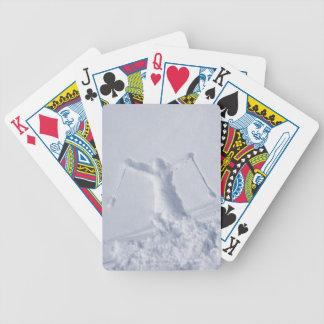 Esquiadores 2 baraja cartas de poker