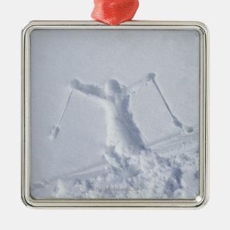 Esquiadores 2 adorno de navidad