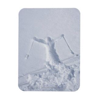 Esquiadores 2 imán