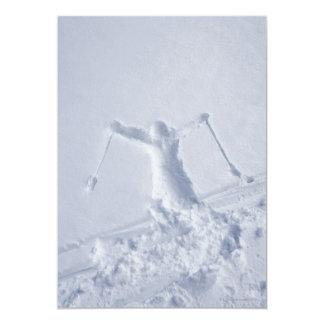 """Esquiadores 2 invitación 5"""" x 7"""""""