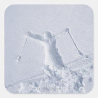 Esquiadores 2 etiqueta