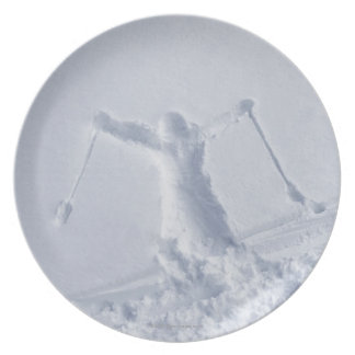 Esquiadores 2 plato para fiesta