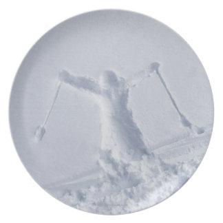 Esquiadores 2 plato de comida