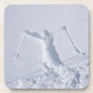 Esquiadores 2 posavasos
