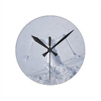 Esquiadores 2 reloj de pared