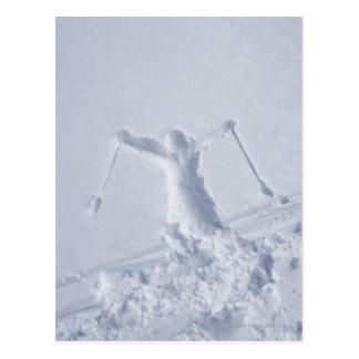 Esquiadores 2 postal