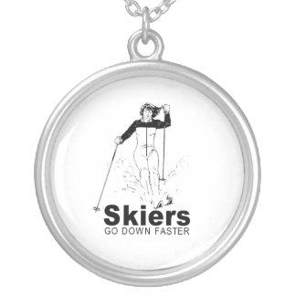 Esquiadores Collar Personalizado