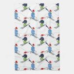 ¡Esquiadores de la toalla de cocina!
