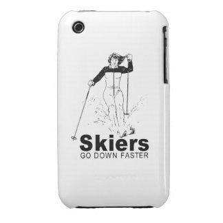Esquiadores iPhone 3 Case-Mate Cárcasas
