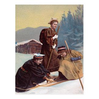 Esquiadores noruegos postales