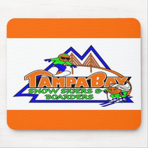 Esquiadores y huéspedes Mousepad de la nieve de Ta Tapete De Ratones