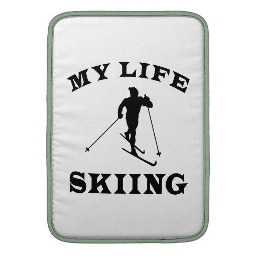 Esquiando mi vida funda para macbook air