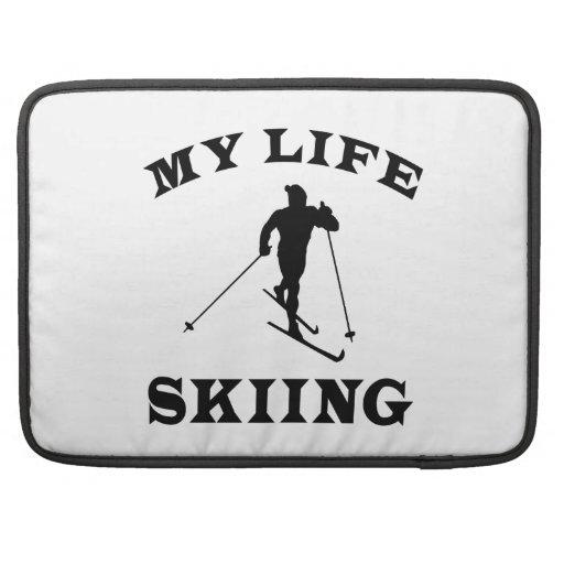 Esquiando mi vida fundas para macbooks