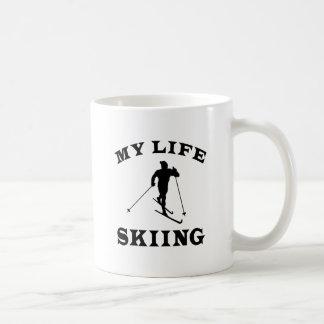 Esquiando mi vida taza de café