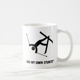 Esquiando mis propios trucos tazas de café