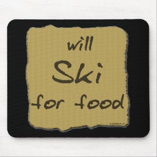 Esquiará para la comida tapete de ratón