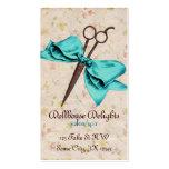 esquileos florales del arco azul femenino del tarjetas de visita