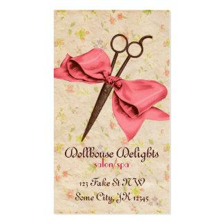 esquileos florales del estilista del vintage del a tarjeta de visita