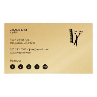 Esquileos y peine (tarjeta de sacador 5) tarjetas de visita