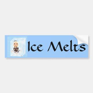 Esquimal en derretimientos del hielo de Quantum Cu Etiqueta De Parachoque