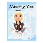 Esquimal en el hielo Quantum Cutie que le falta Tarjetas Postales