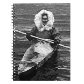 Esquimal y el suyo de los E.E.U.U. Alaska kajak Libretas