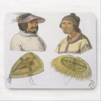 Esquimales de Norteamérica (grabado del color) Mouse Pad