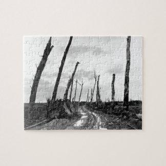 Esquina de calle en Poelcapelle Bélgica 12/19/1918 Puzzle